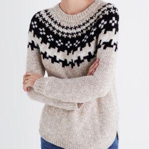 Madewell Wool Blend Winter Knit Sweater